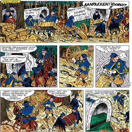 Blauwen en bulten | De Blauwbloezen | Striparchief