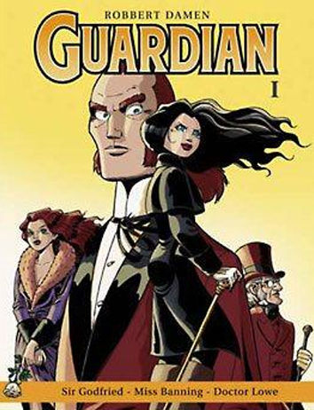 Sir Godfried - Miss Banning - Doctor Lowe   Guardian   Striparchief